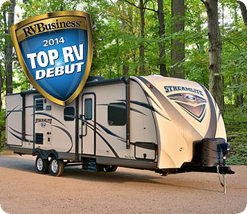"Gulf Breeze and StreamLite Champagne Edition Travel Trailers Win ""Top RV Debut"" Award"